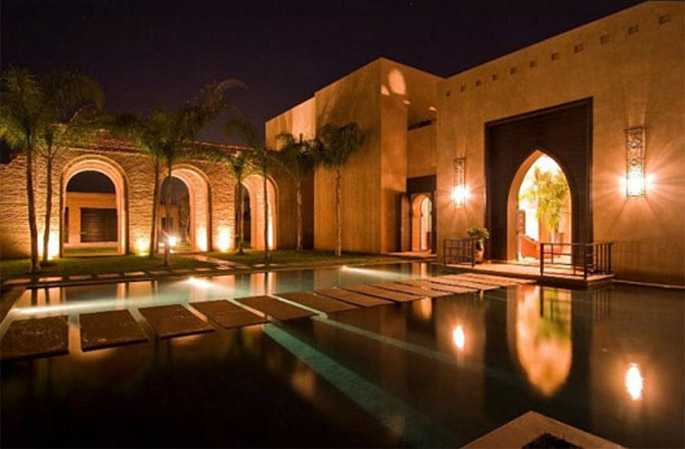 Luxury Moroccan Villa House Design Contemporary Beautiful Outdoor Pool by Berdal