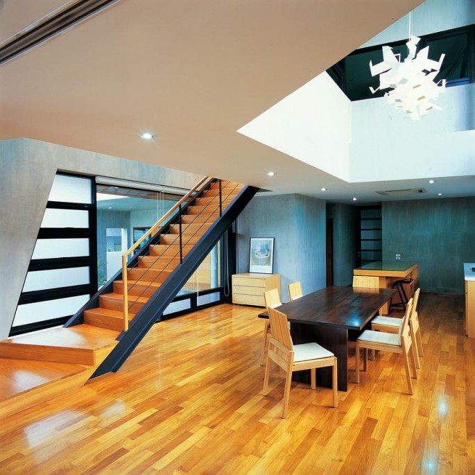 Steel-structure-stair-leads-to-private-spaces-upstair